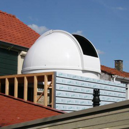 2.2m short height observatory dome (flat roof installation)