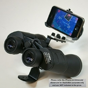 iPhone holder for binoculars and telescopes