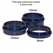 AC603 Set of 3 T-thread extension tubes (31mm total)